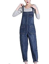 a42407e45e5c Suvotimo Women Casual Bib Overalls Denim Jumpsuits Dungarees Boyfriend Jeans  Plus Size