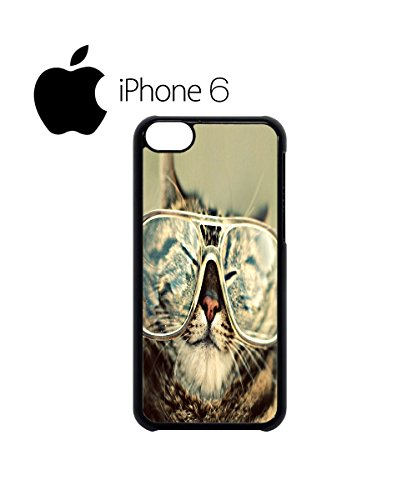 Geek Meow Cat Kitten Nerd Glasses Swag Mobile Phone Case Back Cover Hülle Weiß Schwarz for iPhone 6 White Weiß