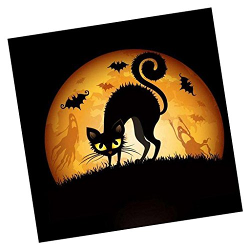 MagiDeal DIY 5D Diamant Malerei Stickerei Kreuz Handwerk-Ölgemälde, Halloween Serie - Schwarze katze (Schwarze Katze Halloween Handwerk)