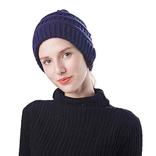 Cappellino invernale da donna con cappellino invernale lavorato a maglia (marina militare)
