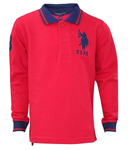 U.S.POLO ASSN. Kids Printed Tip Collar T Shirt