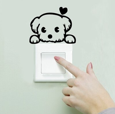 stickers muraux interrupteurs autocollant pvc sticker commutateur r sistant l eau. Black Bedroom Furniture Sets. Home Design Ideas