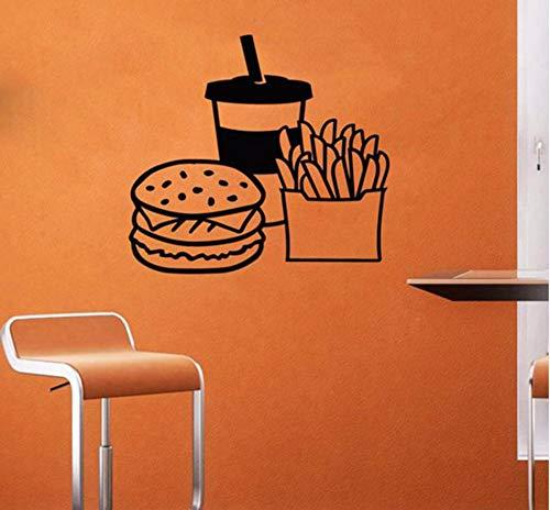 Lvabc 42X43 Cm Fast Food Wand Declas Hot Dog Shop Logo Wand Fenster Abziehbilder Bäckerei Und Backwaren Home Küche Wandtattoo Fenster Dekor