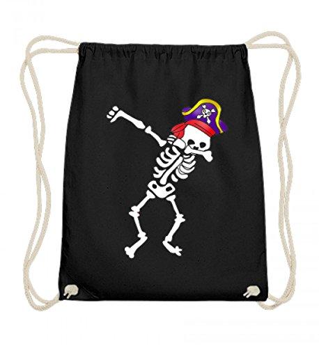 Dabbing Skelett Pirat Schiff Damen Herren Kinder Süß - Schlichtes Und Witziges Design - Baumwoll Gymsac (Piraten Kostüme Ideen)