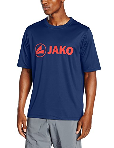 JAKO Herren Funktionsshirt Promo, marine/flame, 3XL, 6164 (T-shirt Marine-blau-prime)