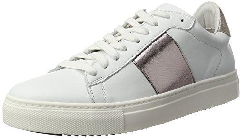 Stokton Damen 650-d Sneaker Weiß (Bianco+ Cipria)