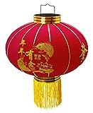 1 pacchi Pendolo per lanterna cinese con diametro 500 mm LT500-01 per interno ed esterno I Lanterna rossa I Lanterna fortunata I Lanterna cinese di Capodanno I Lanterna nuziale I Lanterna del partito