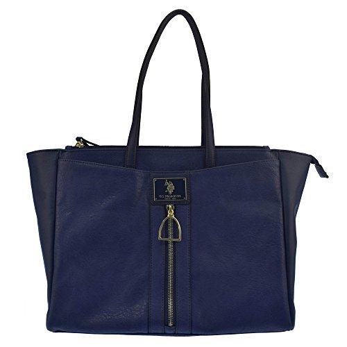 U.S.POLO ASSN. Handtasche mit großen Griffen, Fronttasche 36-48x16x28 cm