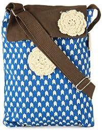 pick pocket Women's Sling Bag Handbag Shoulder Bag Messenger Bag (Blue) (Slblubrwn300)