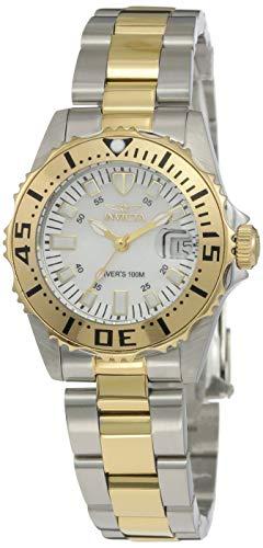 Invicta 6895 Pro Diver Damen Uhr Edelstahl Quarz weißen Zifferblat