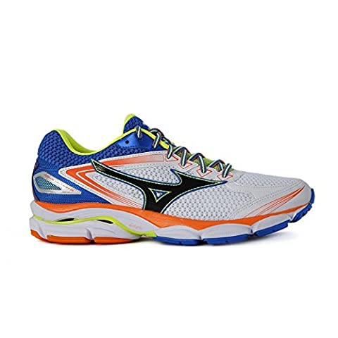 Mizuno Shoe Wave Ultima, Chaussures de Running Homme, Multicolore (White/Black/Directoireblue), 41 EU
