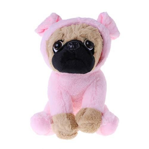 ZJL220 Große Plüschtiere Mops Hund In 6 Kostüme Kuschelweiches Spielzeug Mädchen Kinder Geschenk Pulver Schwein