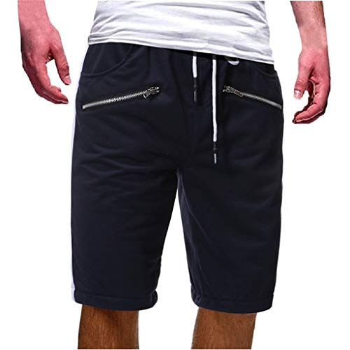 Herren Reißverschlusstasche Baumwolle Multi Pocket Overalls Shorts Fashion Pant Zipper Multi Pocket Shorts Dark Gray Black Red Gray Navy M/L/XL/2XL
