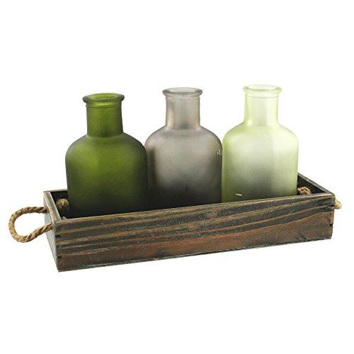 3-bottiglie-di-vetro-decorativo-colorato-in-legno-vassoio-arredamento