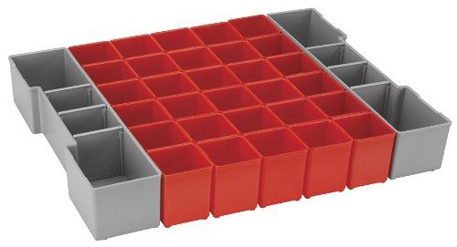 Bosch BOSCH org1a-red Organizer Set für l-boxx-1a, Teil von Click und Go Mobile Transport System, 32-teilig, (Speicher Mobile Tray)