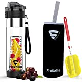 Fruitalite Fruit Infuser Water Bottle- 700 ml, Unique Bottom Loading Tritan Infusion Rod