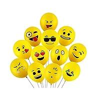 Emoji Party Balloons Latex Balloons 12 Inch Emoji Funny Balloons Party Supplies