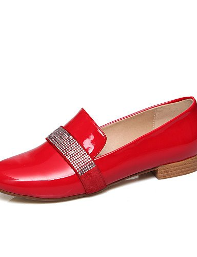 ZQ gyht Scarpe Donna-Mocassini-Casual-Comoda-Piatto-Finta pelle-Nero / Rosso / Bianco , red-us8 / eu39 / uk6 / cn39 , red-us8 / eu39 / uk6 / cn39 white-us5 / eu35 / uk3 / cn34