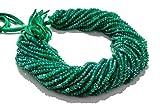Mughal Gems & Jewellery 1 bis 5 Strang natürliche grüne Onyx Rondelle facettiert 3mm-4mm Edelstein Perlen 13