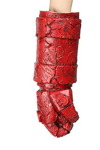 Halloween Cosplay Kostüm Rot Arm Requisiten Mit Handschuh Karneval Fancy Dress Zubehör for Erwachsene (Hellboy Hand Kostüme)