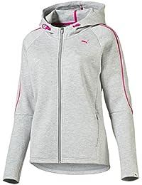 Evo Puma-Chaqueta con capucha para mujer Light Gray Heather (FR: M talla del fabricante: M)