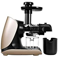 WFF Máquina de Zumo doméstica, exprimidor automático de Baja Velocidad, máquina Horizontal de Zumo