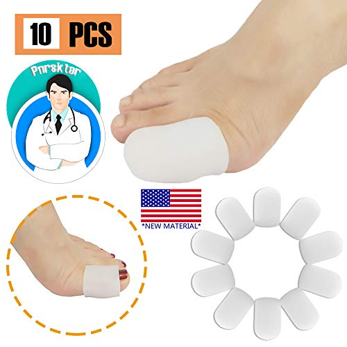 Gel Toe Caps Protezioni per le dita Toe Sleeves NUOVO MATERIALE per vesciche unghie incarnite perdita di unghie dei piedi sollievo dal dolore per