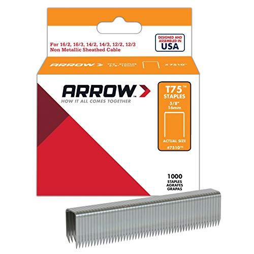 Arrow 160647 Boîte de 1000 cavaliers t75 16 mm - pour câble ø...