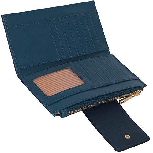 LeahWard® Genuine Kunstleder Geldbörsen Brieftaschen Mode nett Groß Geldbörsen Tasche Marine 1079