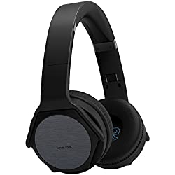 VEENAX HS3 Auriculares Bluetooth Over-Ear, Altavoz Portátil, Cascos Inalámbricos Deportivos & Altavoz en uno, Audífonos Estéreo con Micrófono NFC de Graves Potentes para iPhone Smartphone PC, Negro