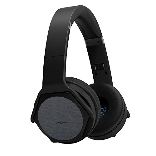 VEENAX HS3 Auriculares Bluetooth Over-Ear, Altavoz Portátil, Cascos Inalámbricos Deportivos & Altavoz en uno, Audífonos Estéreo con Micrófono NFC y Bajos para iPhone Smartphone PC Tablet MP3, Negro