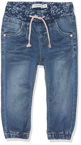 NAME IT NAME IT Baby-Mädchen Jeans NMFBIBI DNMTORA 2194 Pant NOOS, Blau (Medium Blue Denim), (Herstellergröße:80)