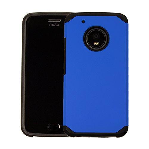 MOTO G5 Schutzhülle, Orzly Duo-Armour Case für das Moto G5 [2017 Modell Klein Version - Bildschirmgröße 5.0 Zoll] - Doppellagige Slim-Fit Schutzhülle für das Motorola Moto G5 in BLAU (Orzly Moto G Case)