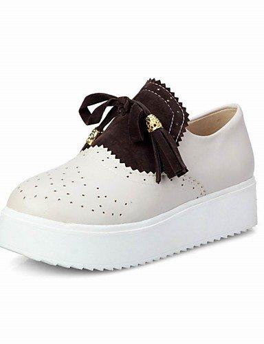 ZQ Damenschuhe-High Heels / Halbschuhe-Outddor / B¨¹ro / Kleid-Kunstleder-Plateau-Plateau / Creepers / Komfort / Rundeschuh-Braun / Gr¨¹n brown-us7.5 / eu38 / uk5.5 / cn38