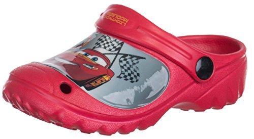 Brandsseller Kinder Disney Clogs Cars - Lightning McQueen - Hausschuhe Gartenschuhe Badeschuhe - Farbe: Rot - Größe: 28/29