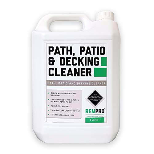 Rempro Path, Patio And Decking Trade Cleaner - Mould Algae Moss Killer & Control (5 Litres)