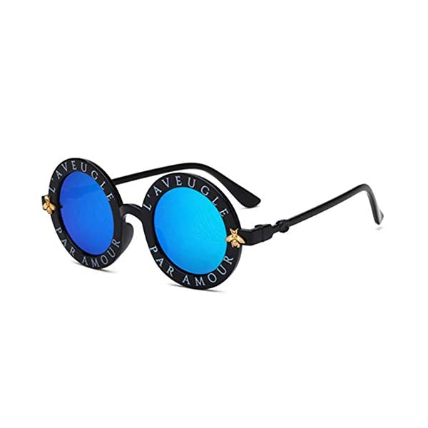 Wang-RX Steampunk Bee Kids Sunglasses Boys Girls Luxury Vintage Children Sunglasses Gafas redondas de sol 8 colores 3