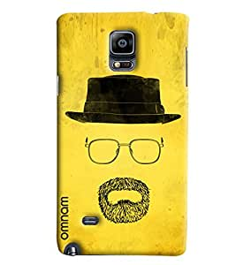 Omnam Yellow Back Ground With Mouth Sketch Printed Back Cover Case For Samsung Galaxy Note 4 N9100