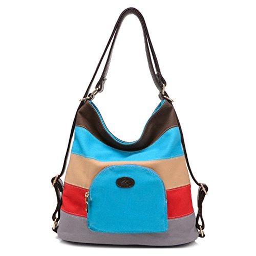 Imagen de bolsa de lona de las mujeres / bolsos de hombro /  azul  alternativa