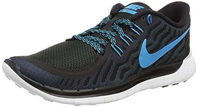 Nike Men s Free 5.0 Running Shoe Black/Blue Lagoon/Dk Elctrc Bl 10 D(M) US