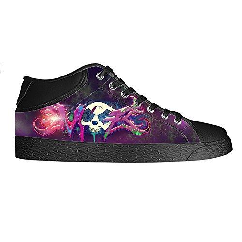 Custom Graffiti Men s Canvas Shoes Scarpe Lace Up High Top Sneakers a vela panno scarpe Scarpe di tela sneakers E