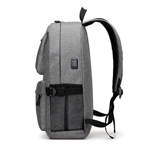 Outdoor-Sport-Campus-Schüler-Tasche Schultertasche Rucksack Große Kapazität Männer Und Frauen Tasche Können Freizeit-Paket Aufladen Grey