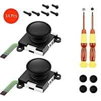 huihuay Two Pack Analog 3D Joy Con Joystick Replacement For Switch,joycon Switch Joysticks Compatiable With Left Joycon Right Switch Joy Con Controller Full NS Repair Tool Set