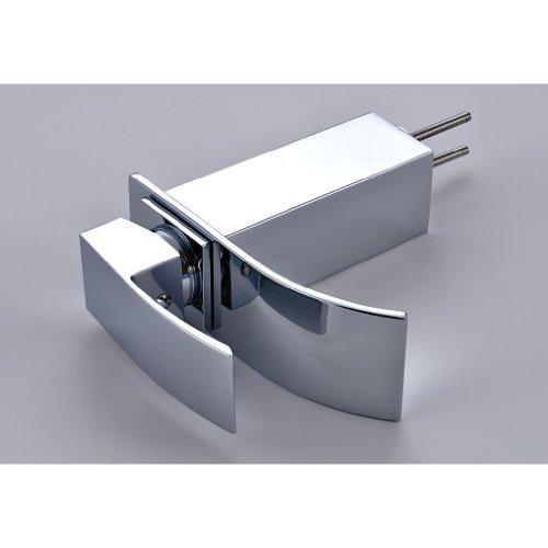 Auralum® Elegant Einhebel Mischbatterie Wasserhahn Armatur Waschtischarmatur Wasserfall Einhandmischer für Bad Badezimmer Waschbecken -