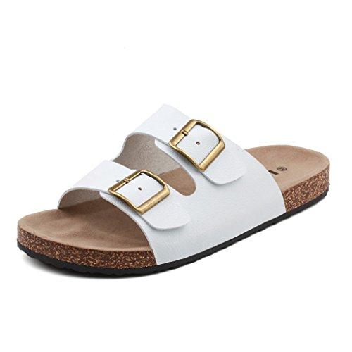 ALUK- Sommer Sandalen - Herren Füße Tragen Tragen Trend Einfache Strand Cool Pantoffeln ( Farbe : Weiß , größe : 39 ) Weiß