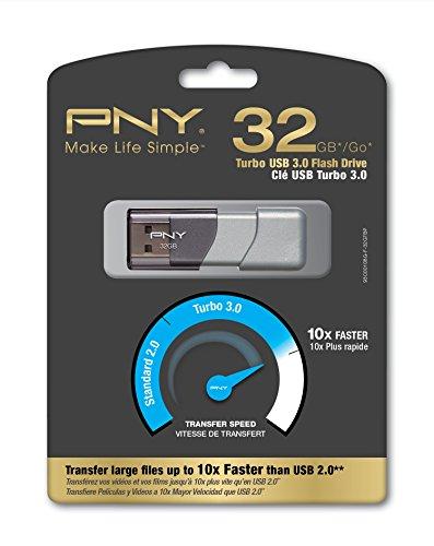 Pny Turbo Attache USB 3.0 32GB Pen Drive (Silver)