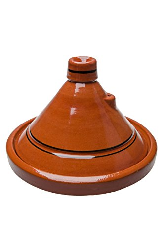Marokkanische Tajine Topf zum Kochen | Schmortopf glasiert Tanger Ø30cm 4-5 Personen | inklusive...