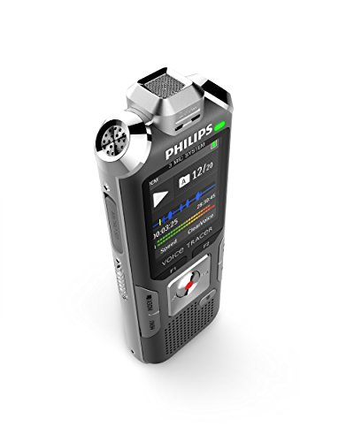 Bargain Philips DVT6000 Voice Tracer Digital Recorder with 3 microphone autozoom, 4GB, colour display, anthracite