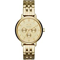 Armani Exchange Womens Gold Steel Braclet Watch