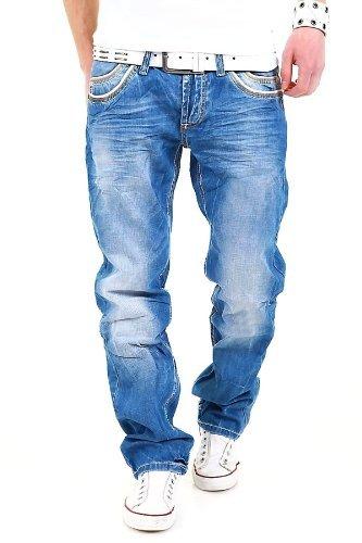 Preisvergleich Produktbild Cipo & Baxx Jeans Rib C-595 Blau [Blau,  W32 / L32]